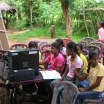 Opbouwen van een schooltje in Sri Lanka